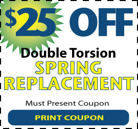 $25 off a double torsion spring replacement