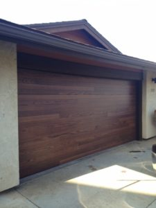 CHI Plank door in Mahogany