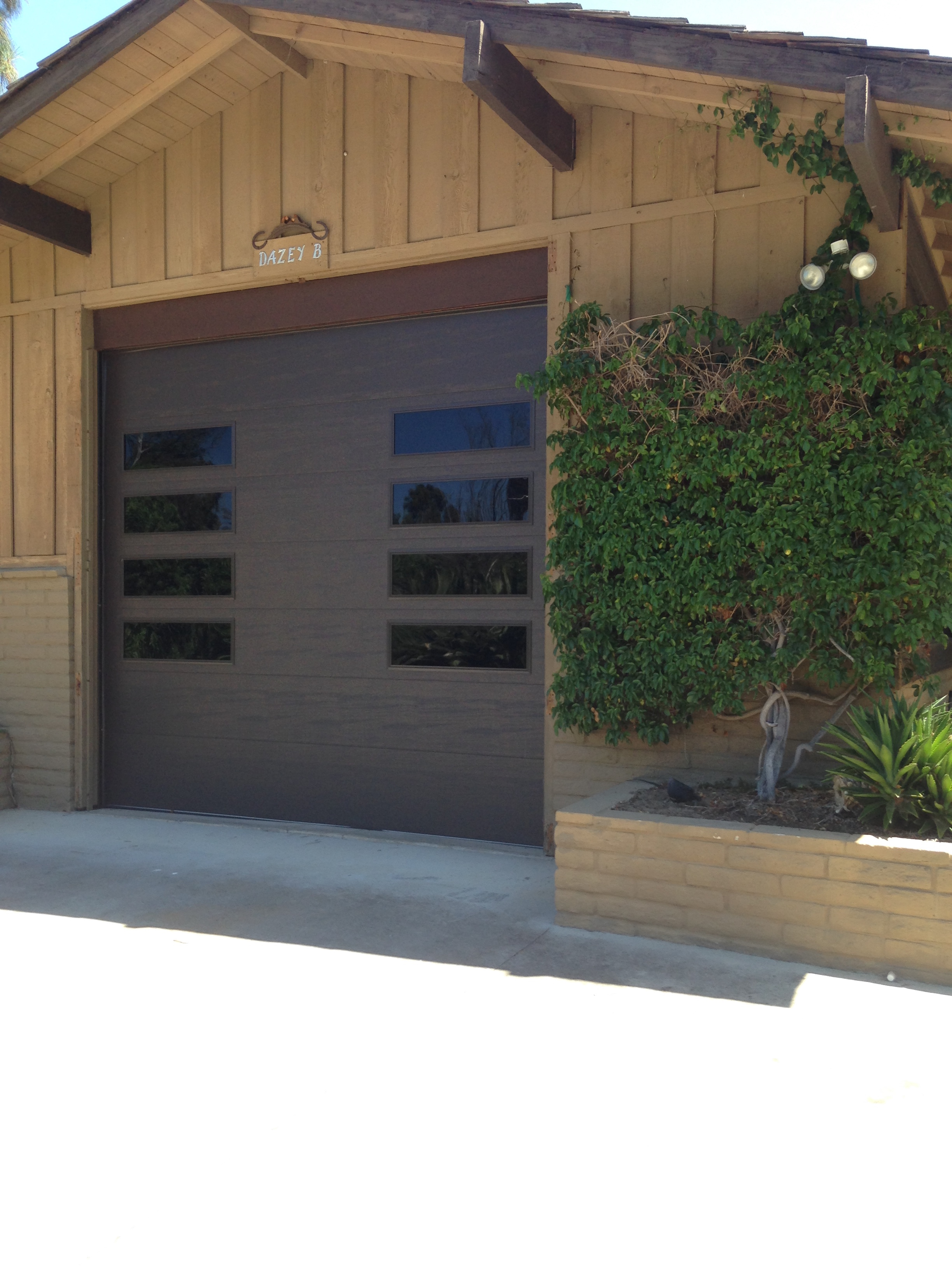 Modern garage door options garage door man garage door man for Garage man door