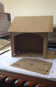 A model made by the customer as a reference for the construction team